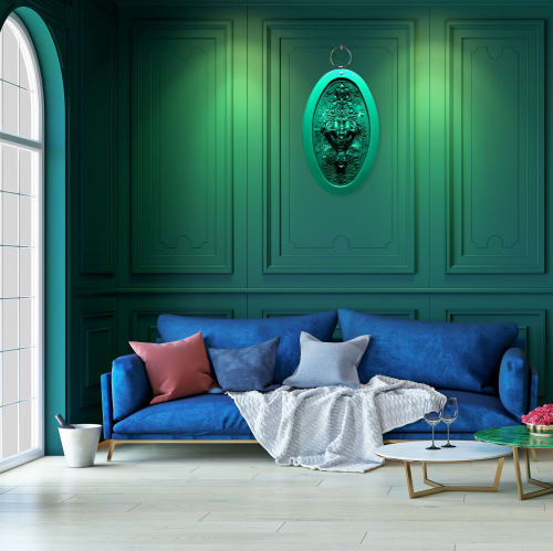 Art & Wall Decor by Carina Wagenaar seen at Private Residence - XL Medallion artwork 'World of WOW'