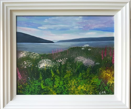 Paintings by Carolina Arbuthnot seen at Private Residence, Solihull - Wild Flowers
