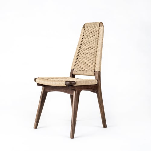 Chairs by Semigood Design seen at Creator's Studio, Issaquah - Rian High Back Dining Chair, Hardwood, Woven Danish Cord