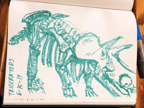 Art & Wall Decor by Beenznrice Illustration and Design seen at Arizona Museum of Natural History, Mesa - Dinosaur Sketches