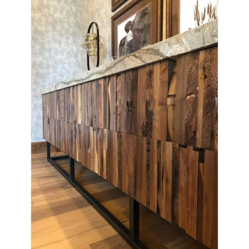 Tables by AW Woodworks seen at Private Residence, Cedar City - Rustic Entry Table