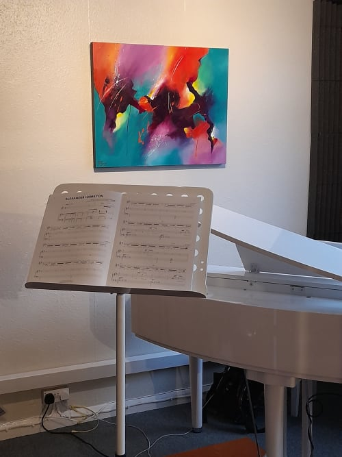 Paintings by Jude Caisley seen at Pro Voice Care (Vocal Rehabilitation and Coaching), London, London - Rising and Precious Jewel