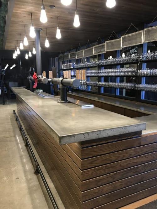Furniture by ConcretePoetry, Inc. seen at Samuel Adams Boston Brewery, Boston - Countertop