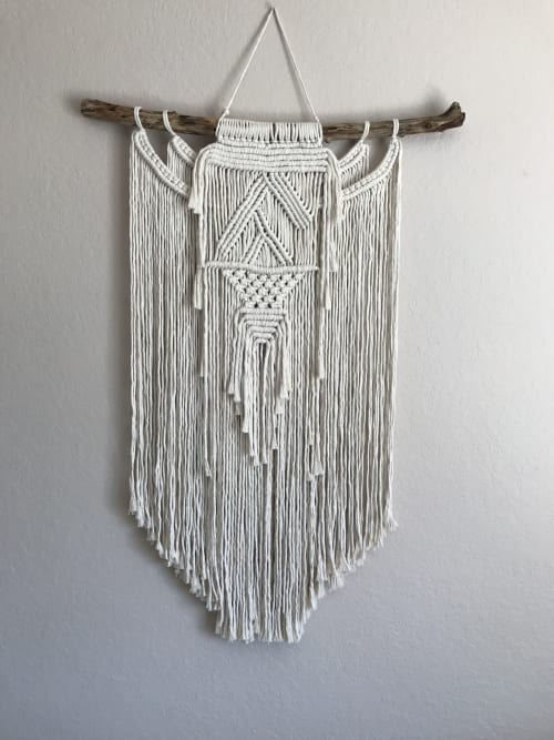 Macrame Wall Hanging by Love Wild Soul seen at Private Residence, San Diego - Large Macrame Wall Hanging