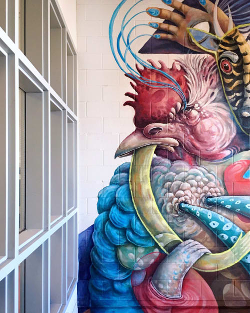 Murals by Katie Green seen at University of Calgary, Calgary - University of Calgary Mural