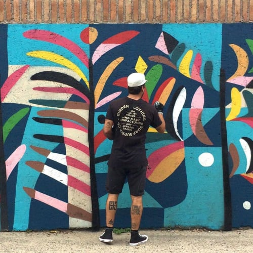 Murals by Thiago Thipan - 'Ervas e Plantas Sagradas'