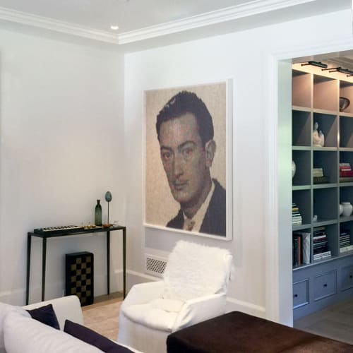 Wall Hangings by Peter Combe seen at Private Residence, Palo Alto - Dali's portrait