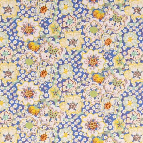 Wallpaper by Svenskt Tenn seen at Stockhome Restaurant, Petaluma - Wallpaper Eldblomman