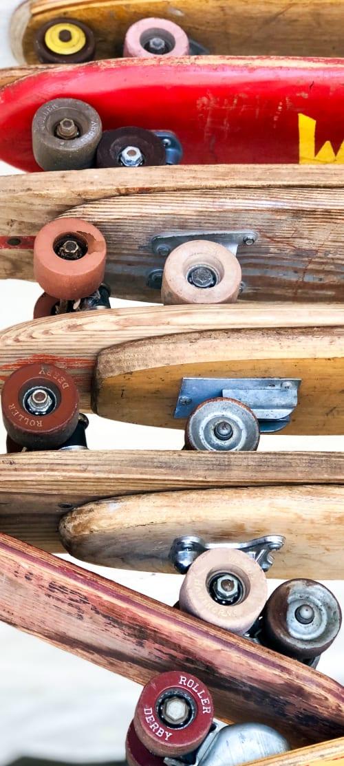 "Wall Hangings by ANTLRE - Hannah Sitzer seen at Google RWC SEA6, Redwood City - ""Skateboards"