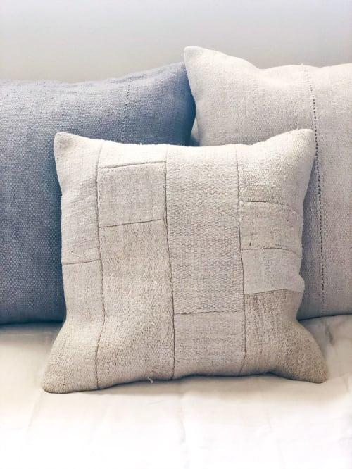 Pillows by Wayfarer seen at MERCHANT, Santa Monica - Vintage Hemp Patchwork Pillows