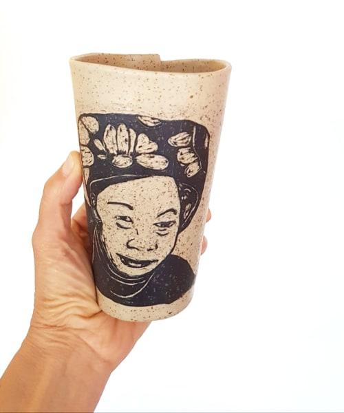 Hand Carved Portrait Coffee Mug | Cups by ShellyClayspot