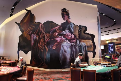 Murals by Drew Merritt seen at Palms Casino Resort, Las Vegas - Mural No. 1