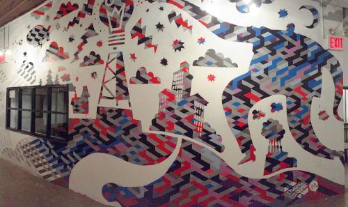 Murals by Chris Soria seen at Brooklyn, Brooklyn - Scientific Man
