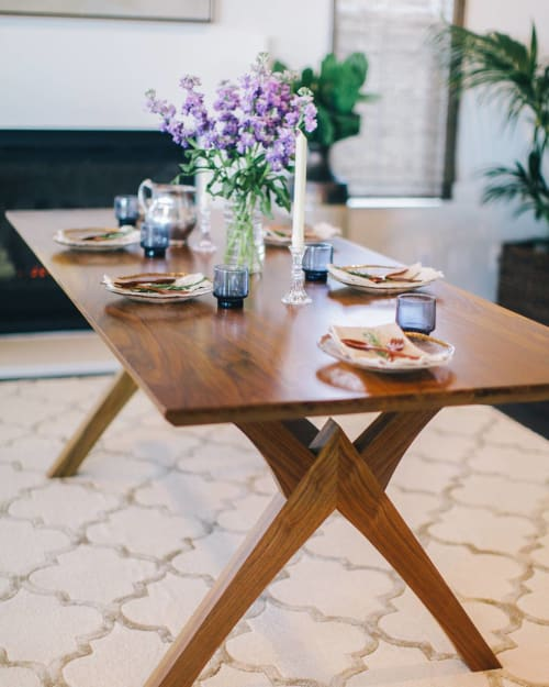 Tables by Open Door Furniture seen at Private Residence, San Diego - Atlas Dining Table