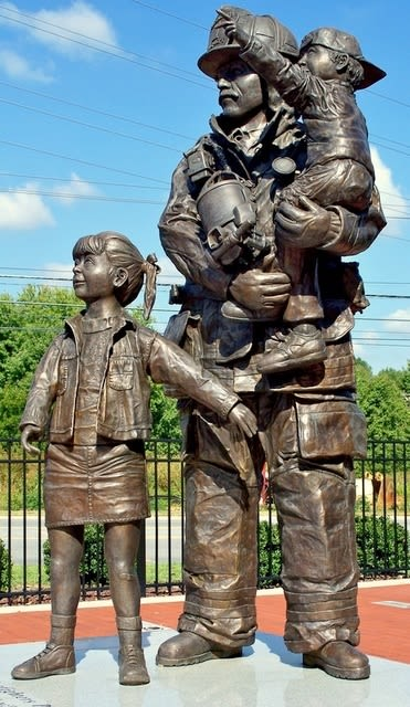 Public Sculptures by Paul Nixon seen at Greensboro Fire Department, Greensboro - Greensboro's Bravest