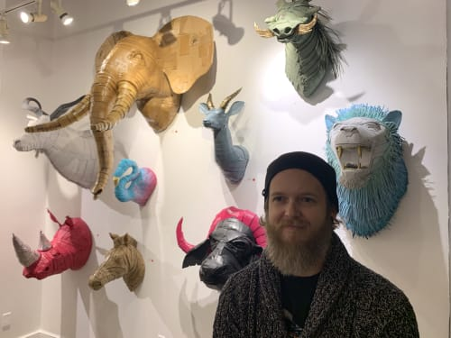 Sculptures by Justin King seen at Houska Gallery, St. Louis - Group Show 2019