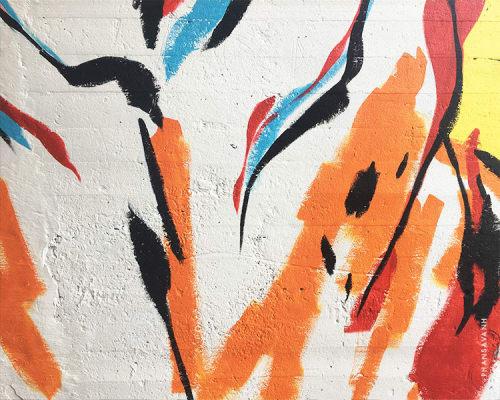 Street Murals by Sanithna Phansavanh at Atlanta BeltLine, Atlanta - Moksha