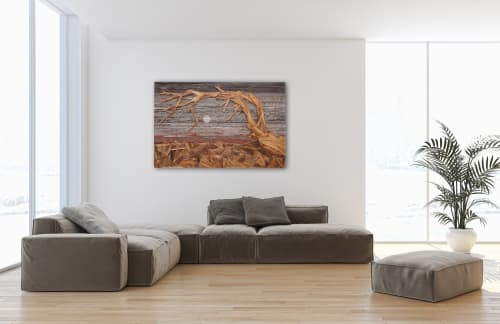 Wall Hangings by Craig Forget seen at Private Residence, Essex - Jeffrey Pine