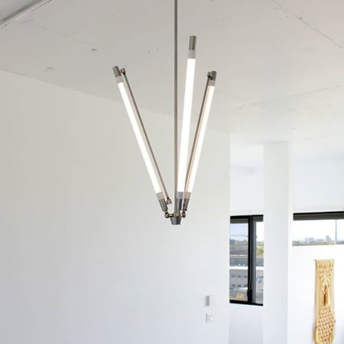 Chandeliers by Deschênes Lighting / Luminaire at Private Residence, Montreal, Montreal - LUMINAIRE AJUSTABLE MULTI-ANGLES