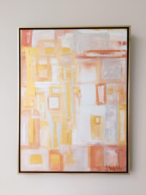 Paintings by Jillian Webb Herrmann | JWebb Fine Art - Abstract Spaces in Metallic