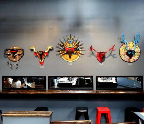 Wall Hangings by Shannon Glasheen seen at Mission Bowling Club, San Francisco - Wall Arts
