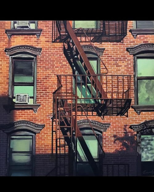 Paintings by Erik Weedeman seen at Private Residence, Bordentown - Fire Escape