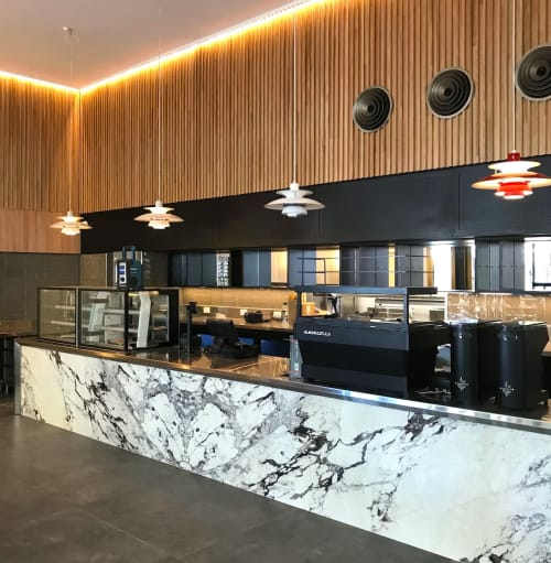 Tiles by Odin Tiles + Coverings seen at Atomic Espresso, South Perth - GRANDE MARBLE