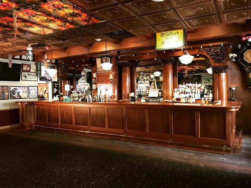 Furniture by The Philadelphia Woodworking Co. seen at McGillin's Olde Ale House, Philadelphia - Custom Bar & Millwork