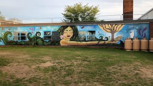 Murals by Alice Mizrachi seen at Swanson Road Intermediate School, Auburn - Gaia