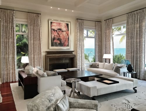 Interior Design by alene workman interior design at Private Residence - Art Infused Waterfront Estate