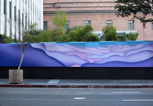 Street Murals by Maxwell McMaster seen at The Standard, Downtown LA, Los Angeles - Exterior Mural
