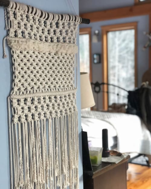 Macrame Wall Hanging by GreenElephantBK seen at Private Residence, Windsor - Macra-weave Wall Hanging