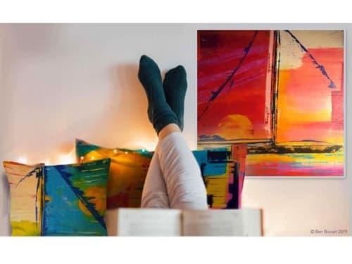 Paintings by Ben Bonart seen at Ben Bonart Art & Design LLC, Nyack - SUNSET SAIL