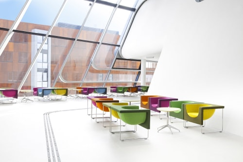 Chairs by STUA at WU (Wirtschaftsuniversitaet Wien) Vienna University of Economics and Business, Wien - Nube Armchairs