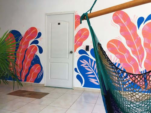 Murals by Jasmine Hortop seen at The Amazing Hostel Sayulita, Sayulita - Sayulita