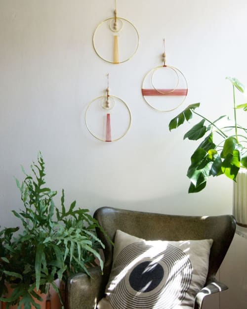 Wall Hangings by Attalie Dexter Home + Accessories at Private Residence, Los Angeles - Double Circle Wall Hanging