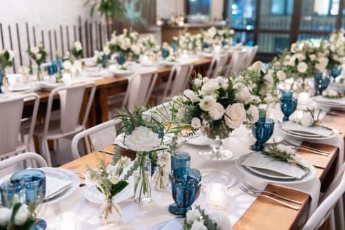 Floral Arrangements by B Floral: Event Design & Production seen at Landmarc Tribeca Events, New York - bareMinerals Dinner