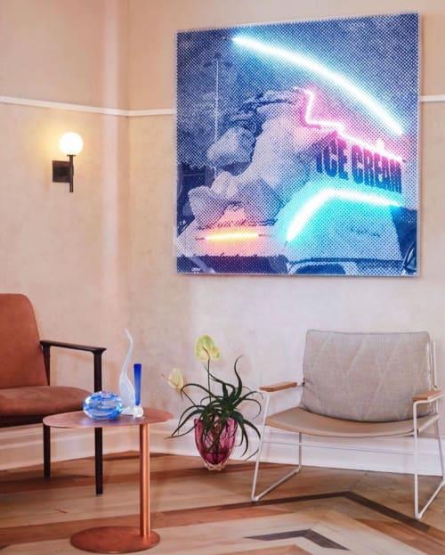 "Paintings by Tom Adair seen at Quarrymans Hotel, Pyrmont - ""Polar Cones"""
