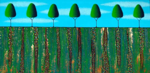 Paintings by Lisa Frances Judd seen at Private Residence, Berlin - Trees Of Spring