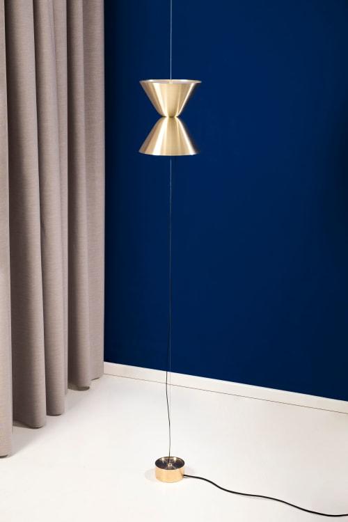 Aureole Suspended Floor Lamp | Pendants by Daniel Becker Studio