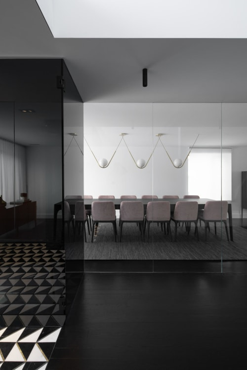 Pendants by Larose Guyon seen at Private Residence, Montreal - Perle 1