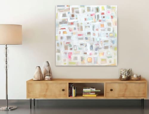 Paintings by Linnea Heide contemporary fine art seen at Private Residence, Nice - 'AFTERNOON DELiGHT' original abstract painting by Linnea Heide
