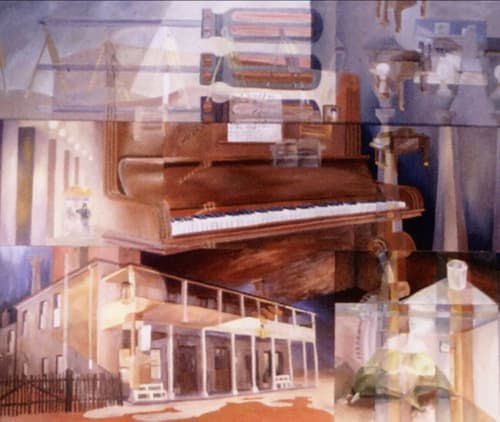 Hill End Piano | Oil Painting | Paintings by Paul Martin