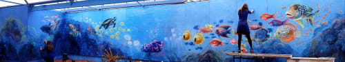 Murals by JAY.MT seen at Cactus Country, Strathmerton - Cactus Reef