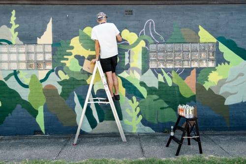 Street Murals by FIKARIS seen at Private Residence, Coburg - Growing
