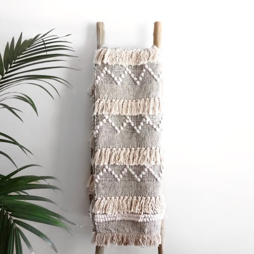 Linens & Bedding by Coastal Boho Studio seen at Destin, Destin - Kai Throw Blanket | Pre-Order