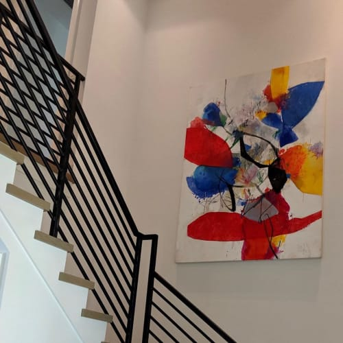 Paintings by Doug Kennedy seen at Private Residence, Delray Beach - Calderflora