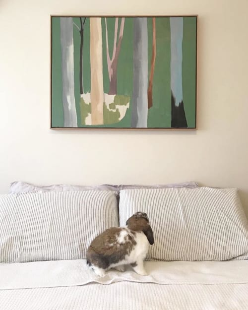 Paintings by Melinda Marshman seen at Private Residence, Sydney - Forest Bathing