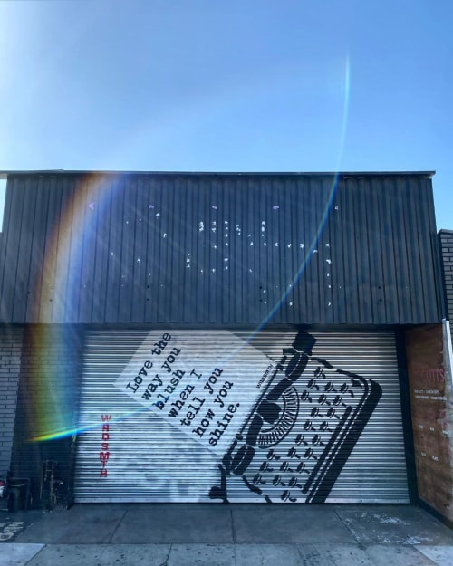 Street Murals by WRDSMTH seen at Los Angeles, Los Angeles - Blush•Shine