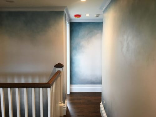 Wall Treatments by Caroline Lizarraga seen at Private Residence, San Francisco - Blue Ombre Wall